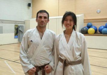 Karate en studeren in Londen, VK