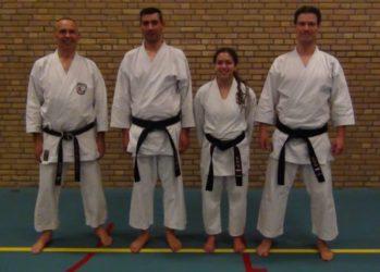 Karateka's SKEL geslaagd voor zwarte band.