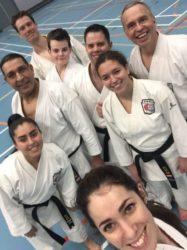 SKEL karateka's trainen DAN examentraining te Den Haag.